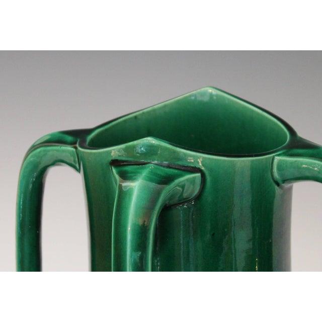 Art Nouveau Awaji Pottery Art Nouveau Four Handle Buttress Vase For Sale - Image 3 of 9