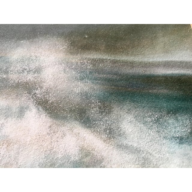 Vintage Seascape Acrylic Painting - Image 4 of 7