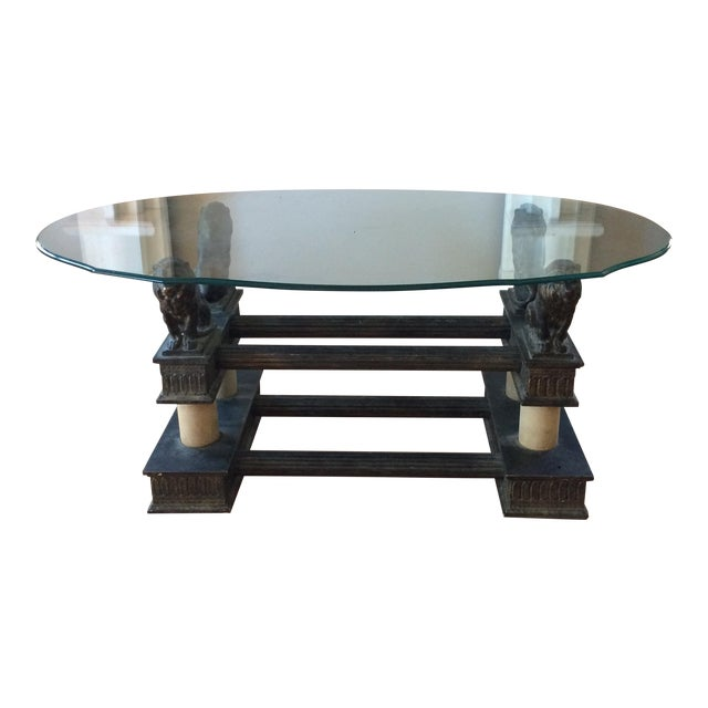 Lion Base Coffee Table For Sale
