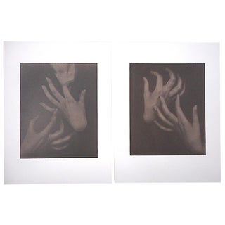 """Large Vintage Photogravures-""""Georgia O'Keeffe"""" by Alfred Stieglitz-A Pair For Sale"""