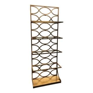 Gilt Metal Display Shelf