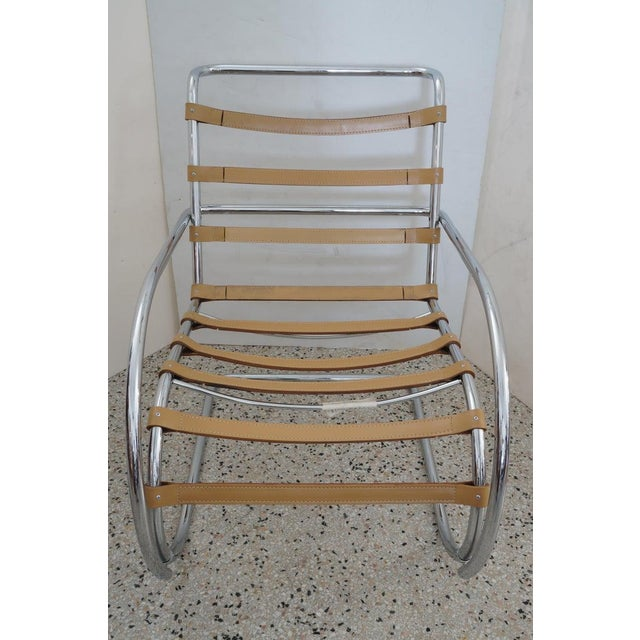 Green Vintage Art Deco Mies Van Der Rohe Lounge Chair by Gordon International For Sale - Image 8 of 13
