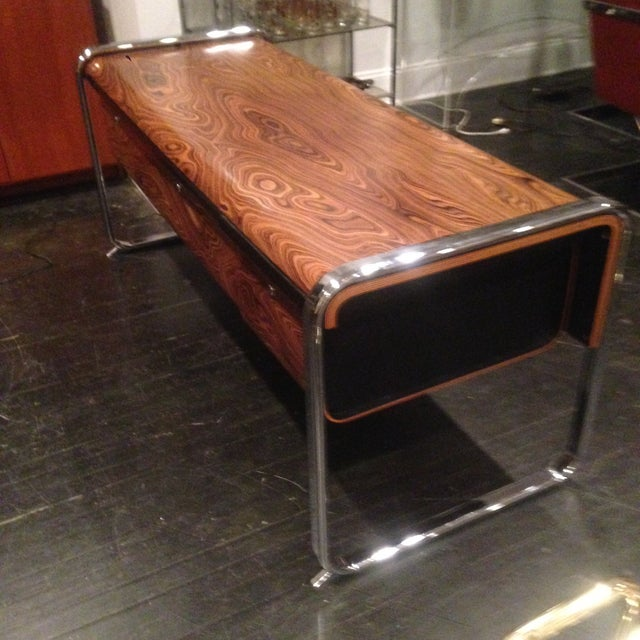 Herman Miller Zebra Wood & Chrome Credenza - Image 5 of 11