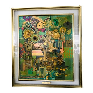 Robert Swedroe - Dream Machine - Mixed Media Collage, Original Artwork Signed, Vintage Ca 1960s For Sale