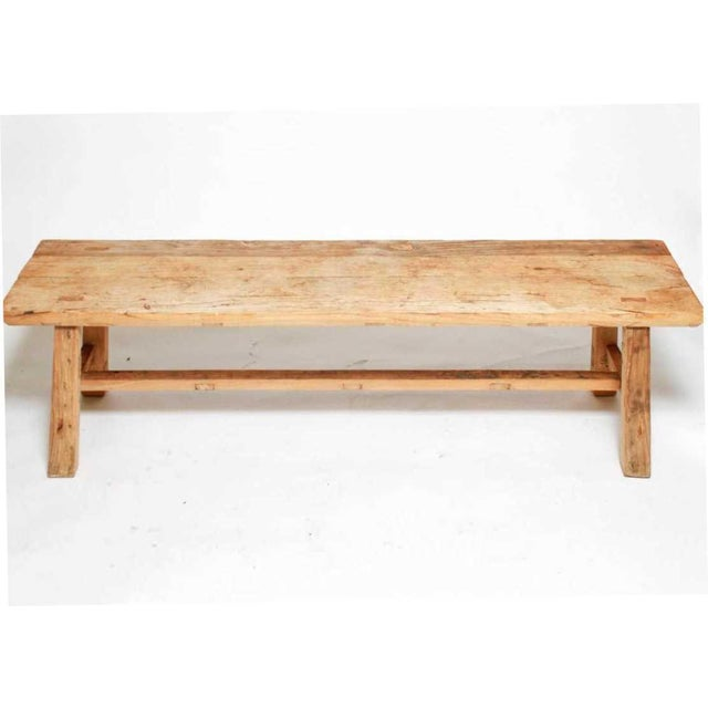 1970s Organic Teakwood Continental Bench Coffee Table For Sale In New York - Image 6 of 6