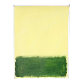 """""""Yellow and Green"""", Original Painting by Filippo Ioco For Sale"""