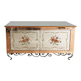 C1940s French Mirrored Sideboard For Sale