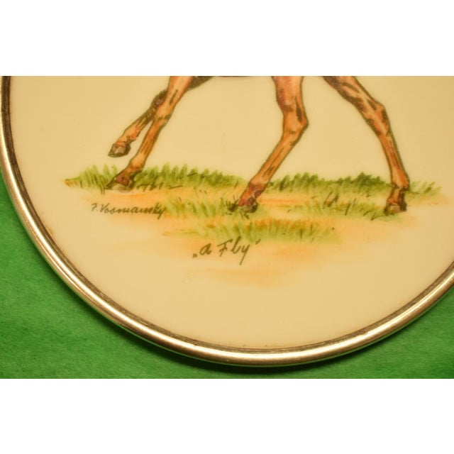 Abercrombie & Fitch Hand Painted Equestrian Sterling Silver Coasters - Set of 5 - Image 11 of 11