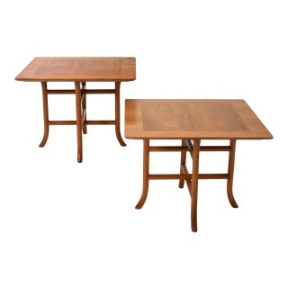 Terence Harold Robsjohn-Gibbings Sabre Leg Side Tables for Widdicomb, Pair, Circa 1950's For Sale