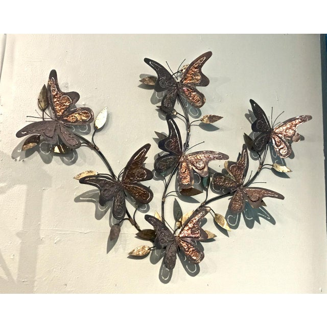Contemporary 1970's Vintage Curtis Jere-Style Butterfly Wall Sculpture For Sale - Image 3 of 5