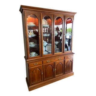 1980s Stickley China Cabinet For Sale