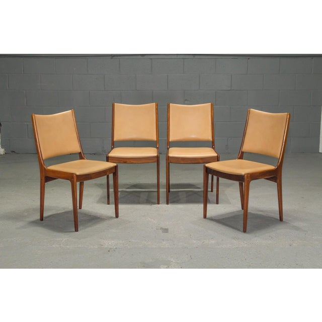 1960s Vintage Danish Modern Rosewood & Leather Dining Chairs- Set of 4 For Sale - Image 13 of 13