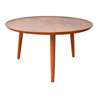 Anton Kildeberg for Odense Møbelfabrik Danish Modern Round Coffee Table For Sale