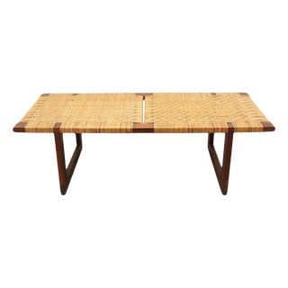 Rare Borge Mogensen Bench, Made by Erhard Rasmussen, Denmark, 1950s For Sale