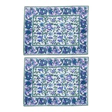 Image of Aria Placemats Lavender & Blue - A Pair For Sale