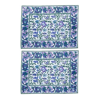 Aria Placemats Lavender & Blue - A Pair For Sale