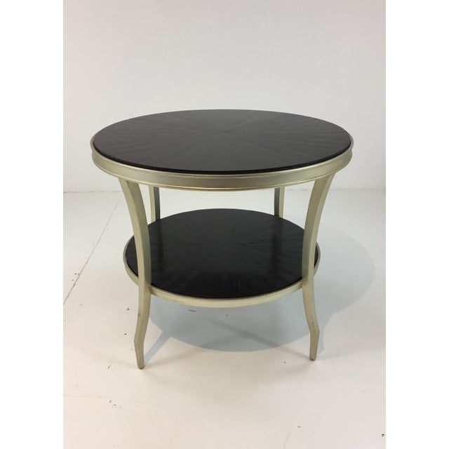 2010s Barbara Barry for Henredon Cuff Link End Table For Sale - Image 5 of 5