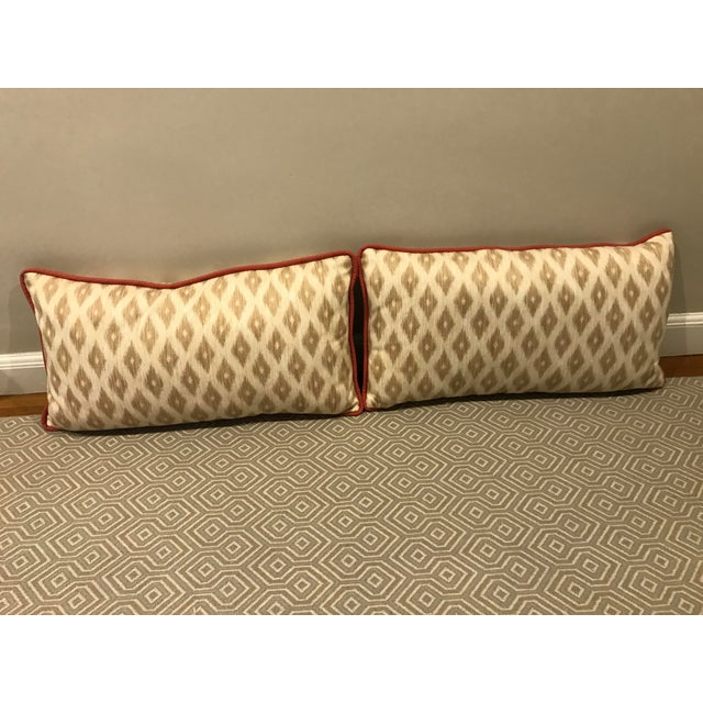 King Size Decorative Patterned Pillows - A Pair Chairish