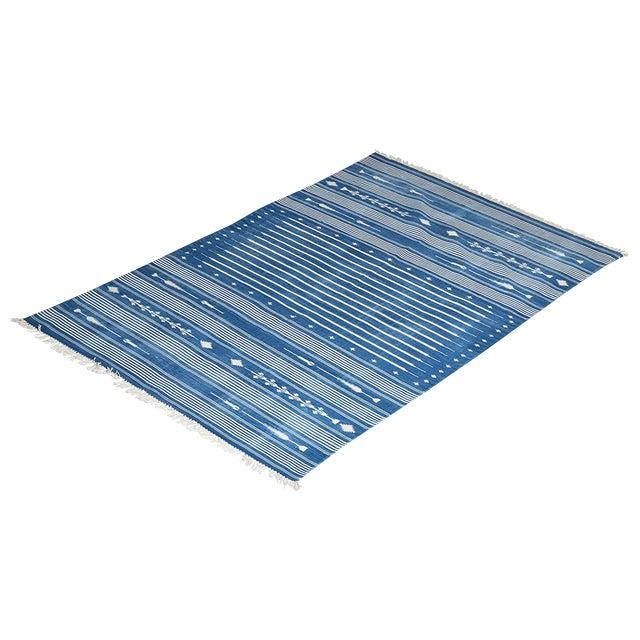 Foxglove Rug, 8x10, Blue & White For Sale