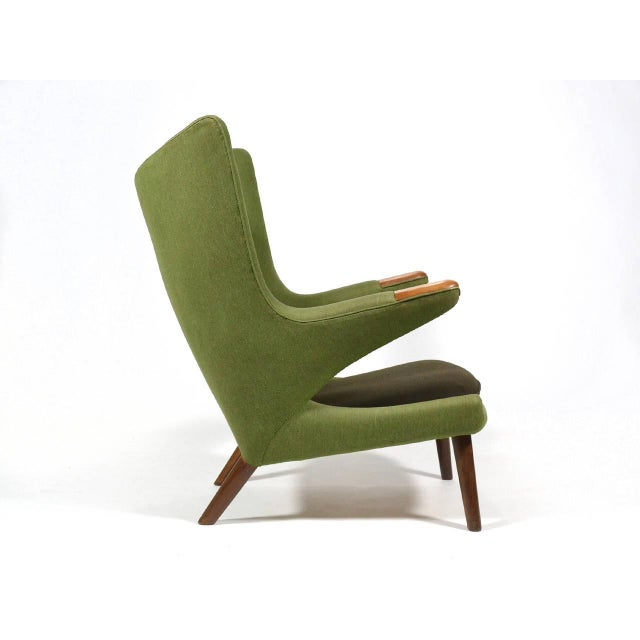Green Hans Wegner Papa Bear Chair For Sale - Image 8 of 11