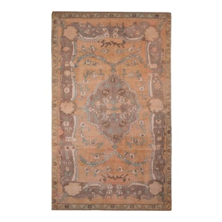 Early 20th Century Antique Turkish Art Deco Area Rug 4'8'' X 7'6'' For Sale