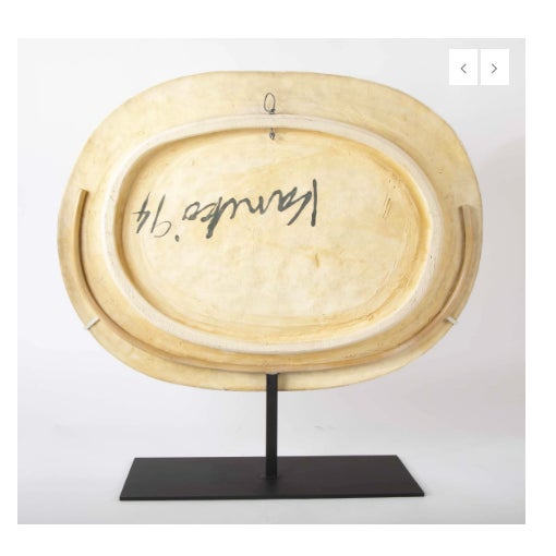 Ceramic Jun Kaneko Glazed Earthenware Oval Plate For Sale - Image 7 of 8
