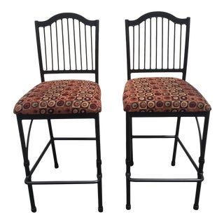 Charleston Forge Bar Stools Chairs - a Pair For Sale