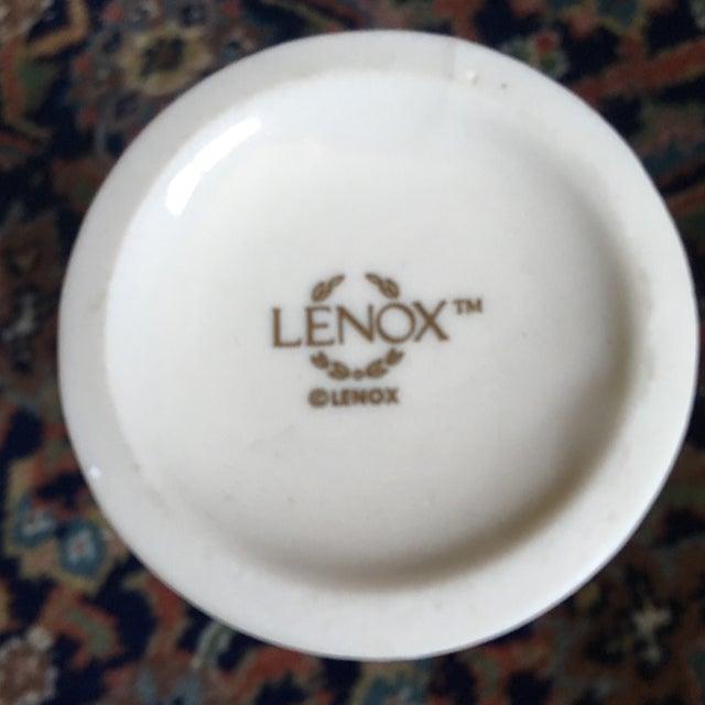 Shabby Chic 1980s Shabby Chic Lenox Ivory Porcelain Rosebud Vase For Sale - Image 3 of 9