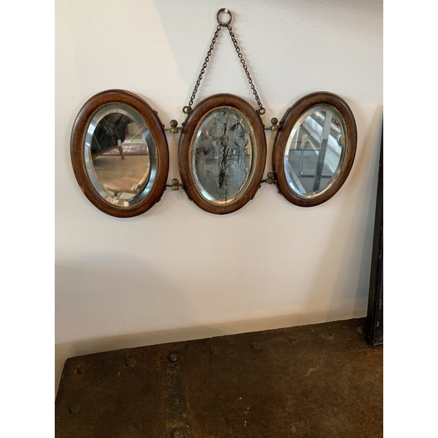 Trifold Wooden Hanging Mirror For Sale In Seattle - Image 6 of 6