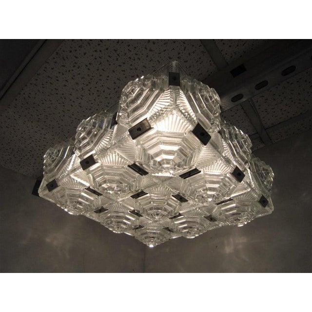 Art Deco Revival Flush Mount Glass Ceiling Squares - 2 Available For Sale In New York - Image 6 of 13