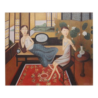 Ladies Lounging Oil Painting