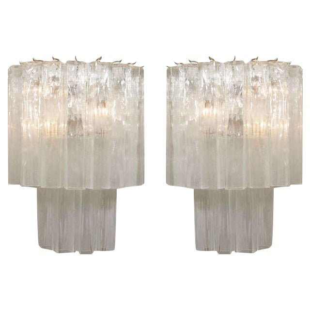 Murano Waterfall Sconces - A Pair For Sale - Image 12 of 12