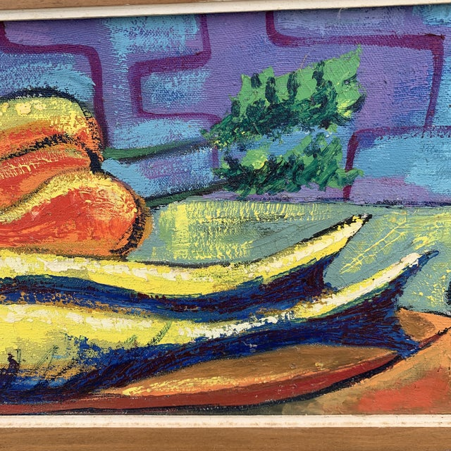 Luckner Lazard Colorful Still Life Painting 1964 For Sale In Richmond - Image 6 of 9