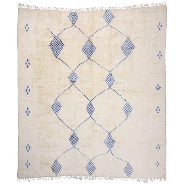 Beige Contemporary Oversized Moroccan Rug - 16'10 X 19' For Sale - Image 8 of 9