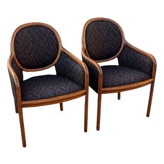 Pair of Ward Bennett for Brickel Arm Chairs For Sale