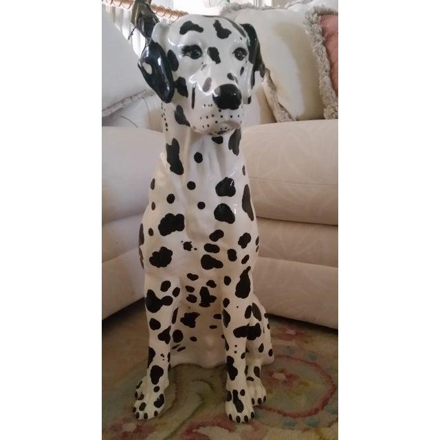 Vintage Dalmatian Dog Full Size Porcelain Statue - Image 2 of 7