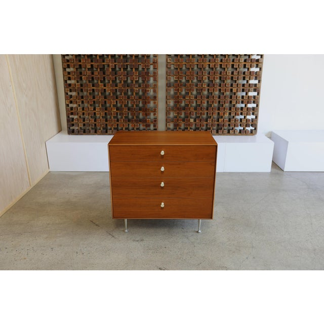 Mid 20th Century Mid-Century Modern George Nelson for Herman Miller Teak Thin Edge Chest of Drawers For Sale - Image 5 of 12