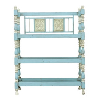 Vintage Blue Painted Etagere