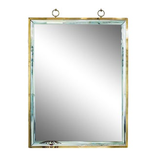 Andre Hayat Pure Design Mirror With Glass Magnifying Effect Frame For Sale
