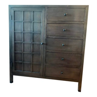 Crate & Barrel Bento Chifforobe - Kona Finish For Sale