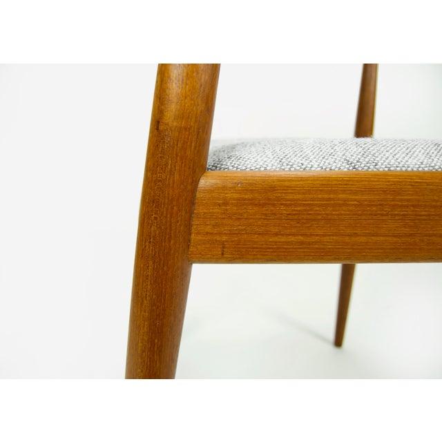 Hans Wegner for Johannes Hansen Teak Round Arm Chair For Sale - Image 11 of 13