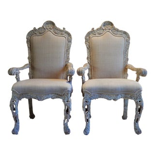 1980s Vintage Phyllis Morris Hollywood Regency Accent Dining Chairs - a Pair For Sale
