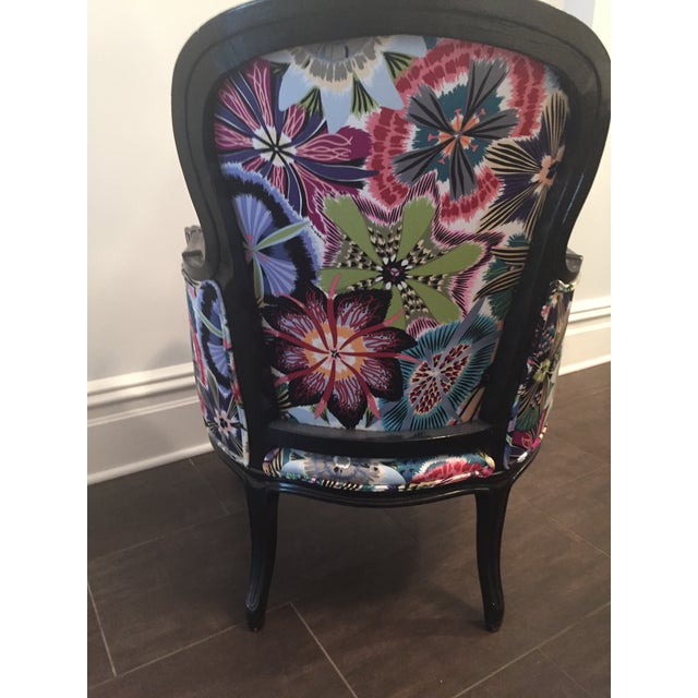 Missoni Fabric: Missoni Fabric Covered Bergere Chair