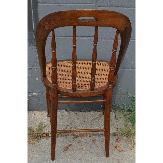 Dining Room Chairs With Caned Seats. Victorian Windsor Bow Back Style. Set of 8. For Sale - Image 11 of 13