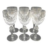 Image of Cut Crystal Clara Waterford White Wine Glasses - Set of 6 For Sale