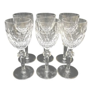 Cut Crystal Clara Waterford White Wine Glasses - Set of 6 For Sale