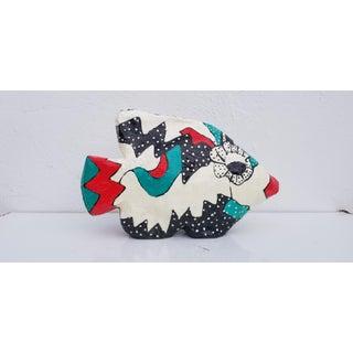 1990s Vintage Marcis Sterling Paper Mache Fish Sculpture Preview