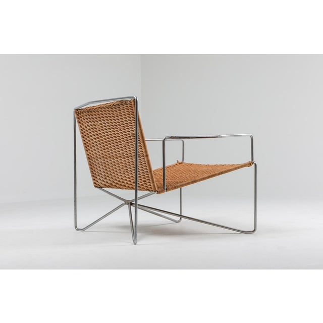 1960s 1960s Rattan & Steel Armchairs by Gelderland - a Pair For Sale - Image 5 of 13