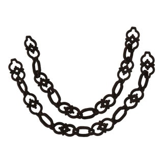 Antique French Iron Chains - A Pair For Sale