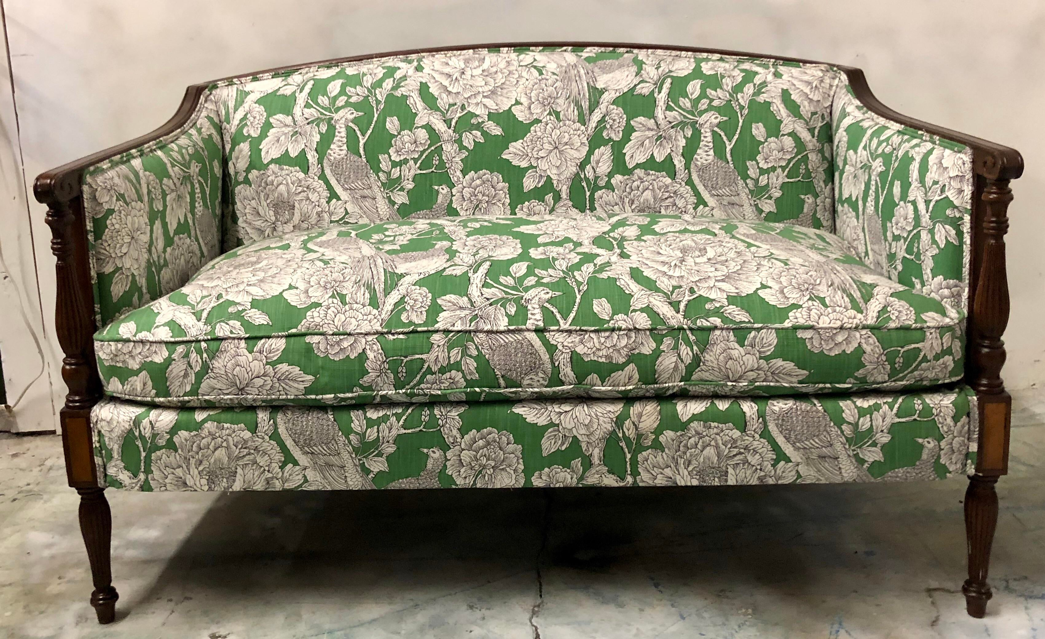 Hickory Chair Settee In Toile   Image 4 Of 8
